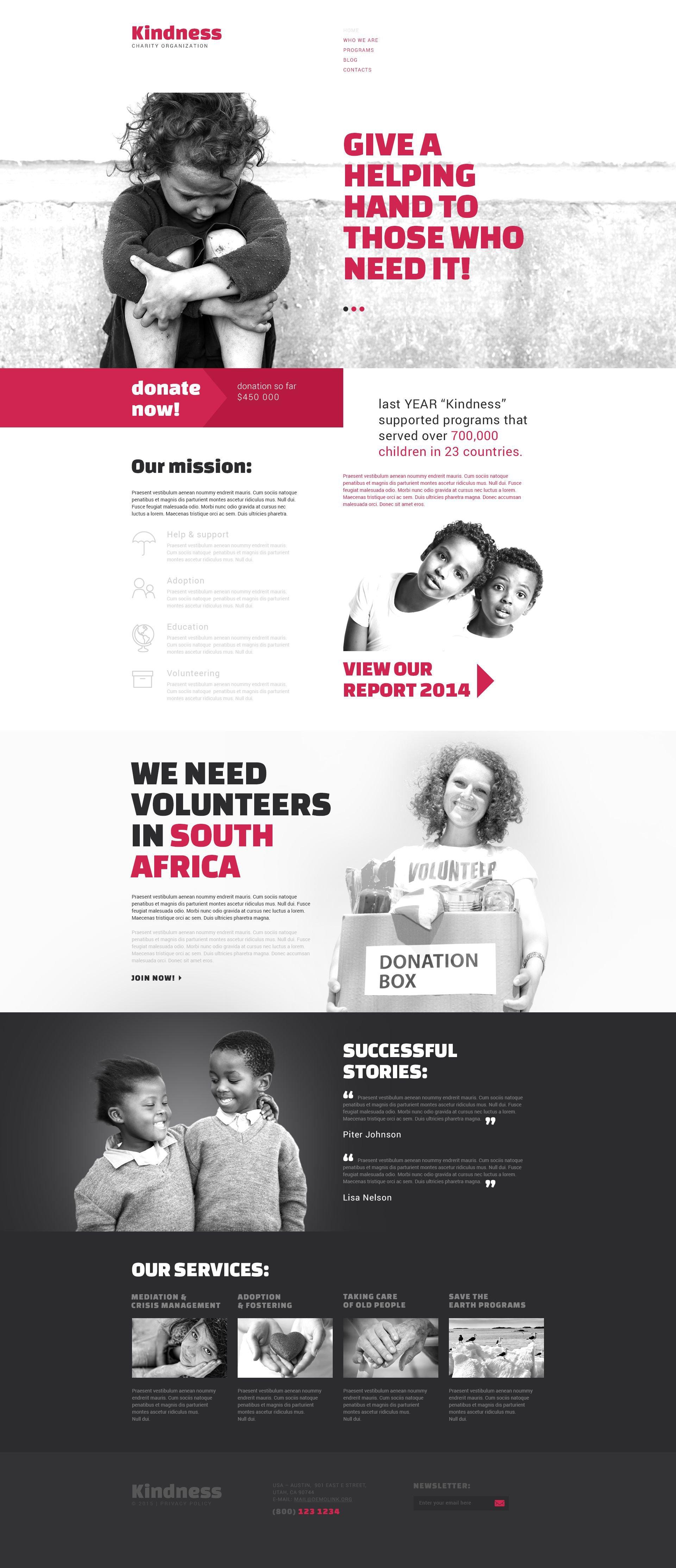 Responsywny szablon Drupal Charity #53818