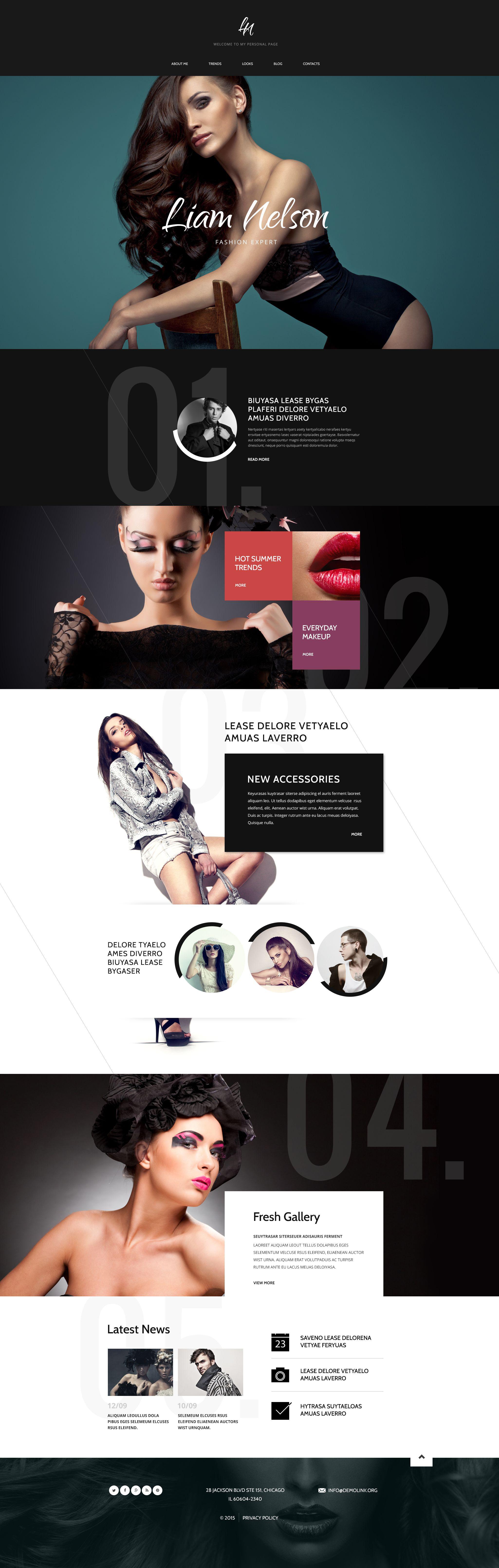 Responsywny szablon Drupal Fashion Expert #53896