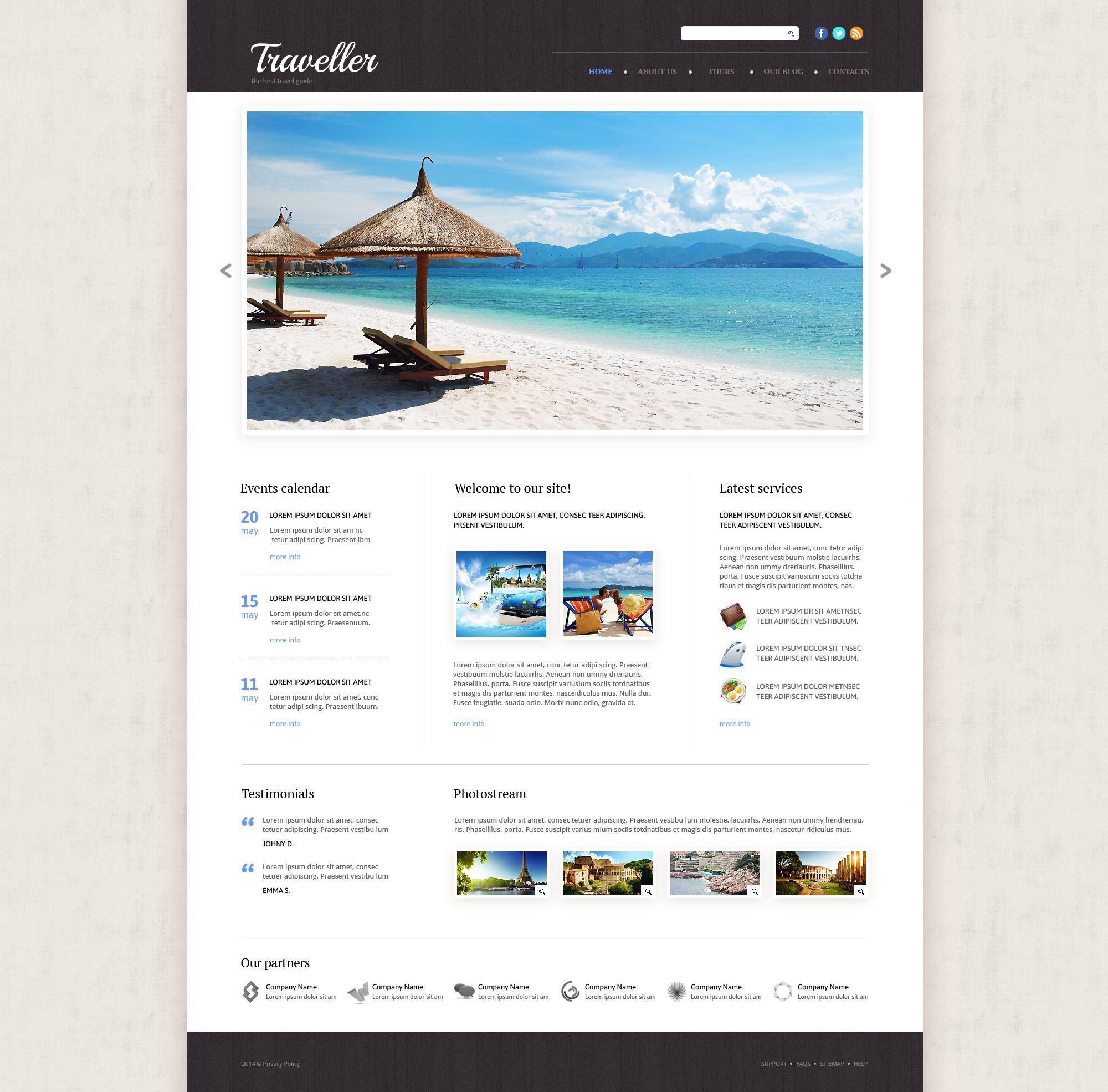 Responzivní Šablona webových stránek na téma Cestovní kancelář #53865