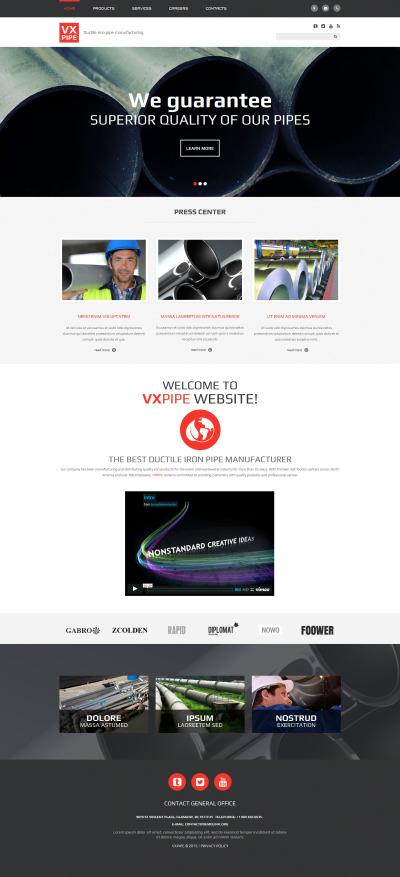 Industrial Responsive Šablona Webových Stránek