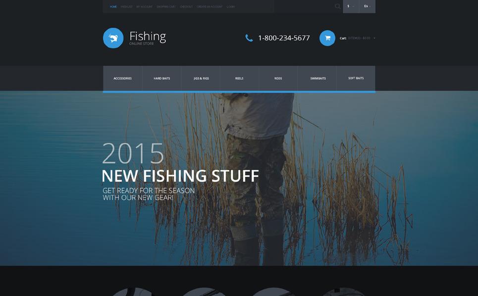 Reszponzív Halászat OpenCart sablon New Screenshots BIG