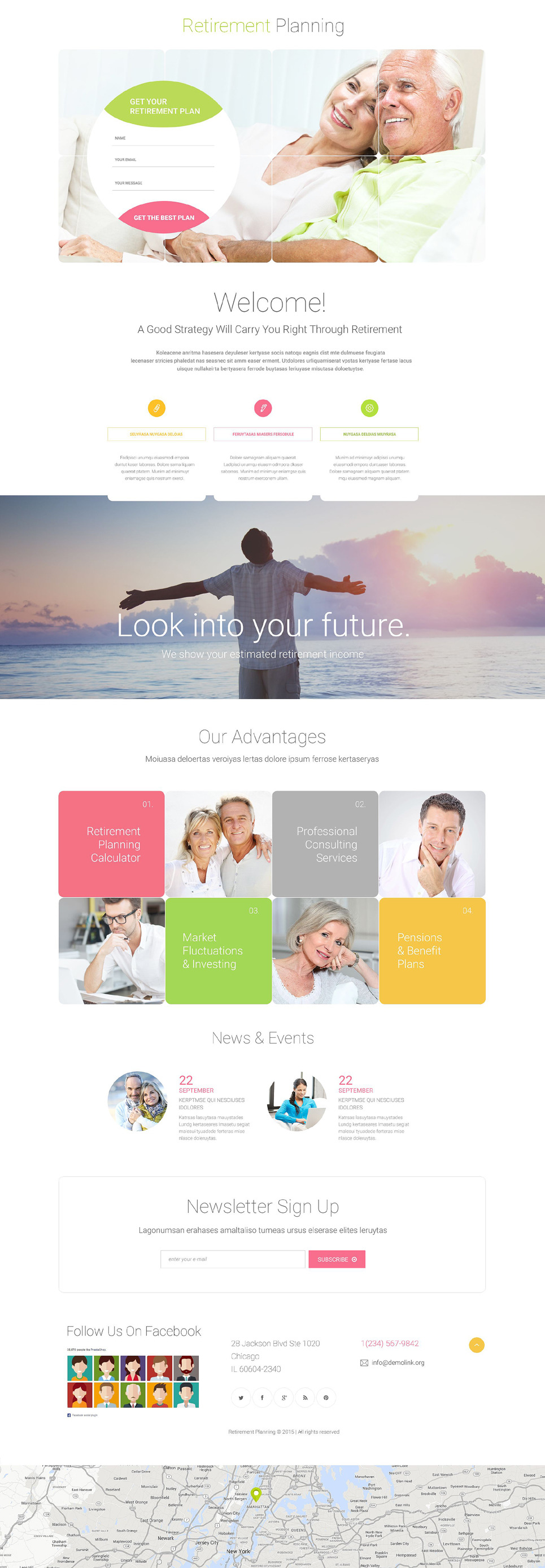 Retirement Planning Responsive Landing Page Template New Screenshots BIG