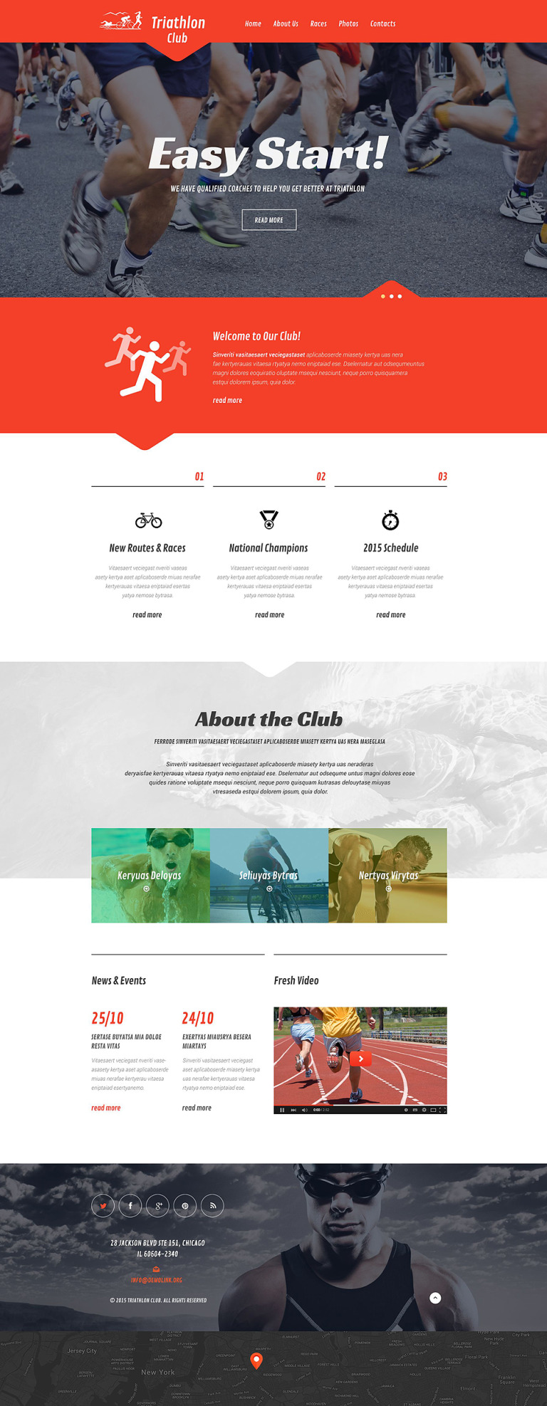 Skiing Responsive Website Template New Screenshots BIG