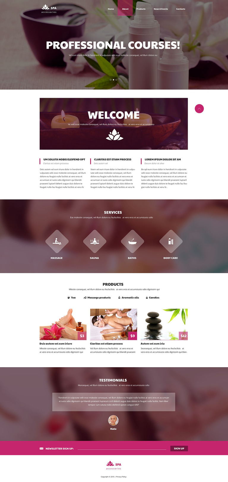 Spa Accessories Responsive Website Template New Screenshots BIG