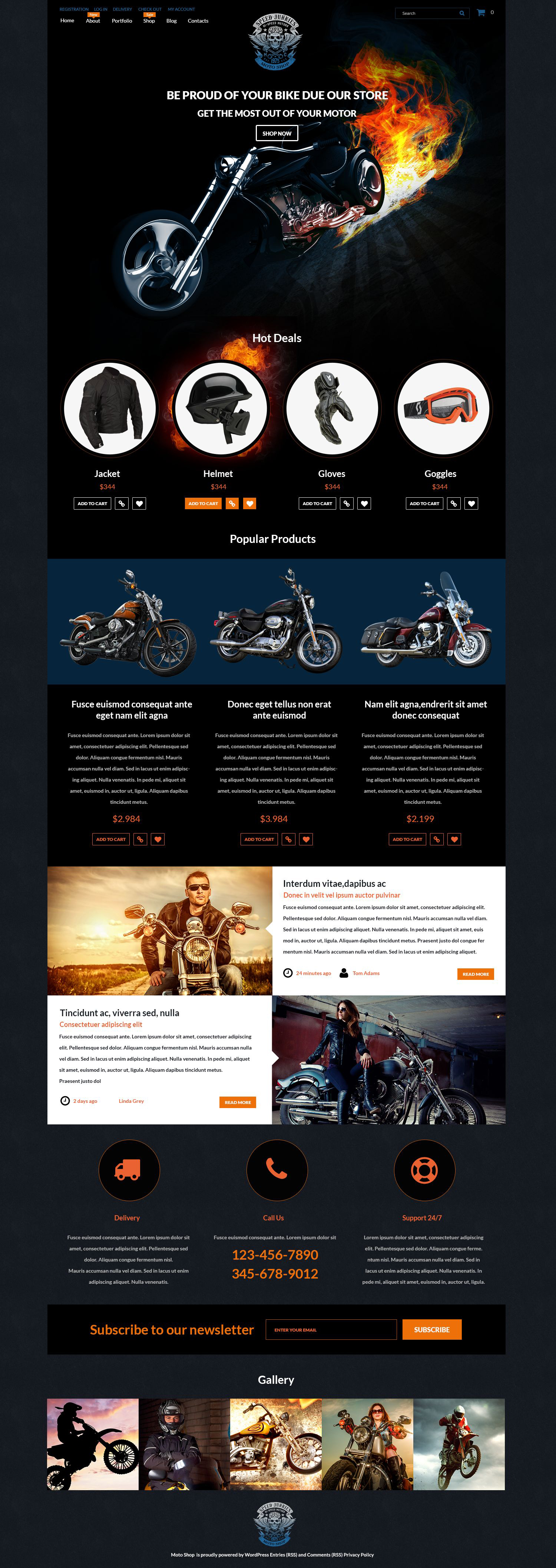 Speed Junkies WooCommerce Theme - screenshot