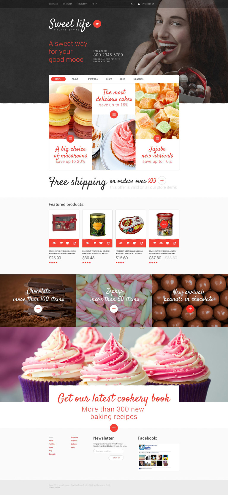Sweet Life WooCommerce Theme New Screenshots BIG