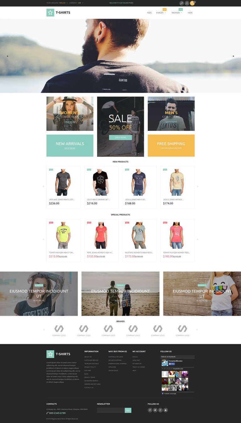 T-Shirts Magento Theme New Screenshots BIG