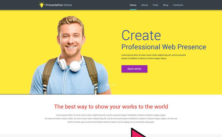 Tema de WordPress #53857 para Sitio de Diseño Web