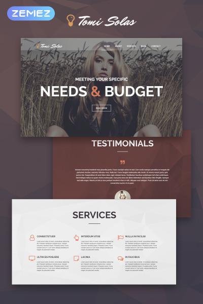 Responsive Tema De WordPress #53878 para Sitio de  para Portafolios de fotógrafos