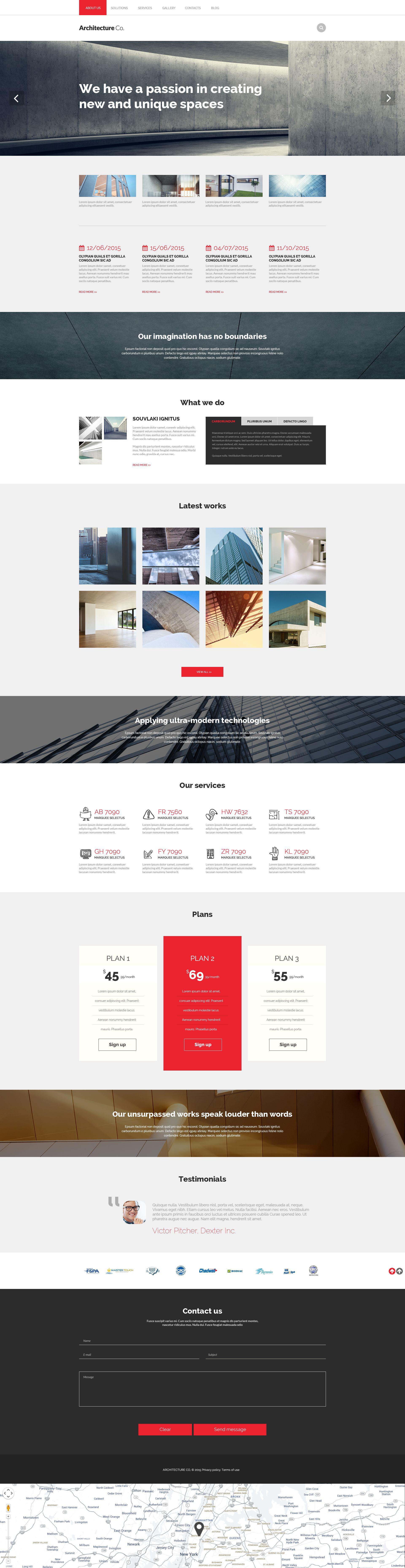"Tema Drupal Responsive #53817 ""Architectural Model"" - screenshot"