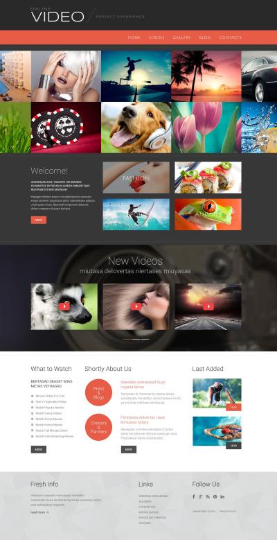 Flexível tema WordPress №53877 para Sites de Galeria de Videos