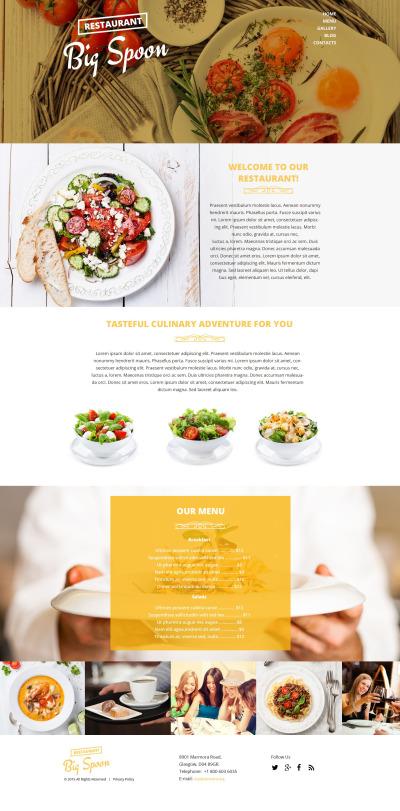 Flexível template Drupal №53895 para Sites de Cafeteria e Restaurante