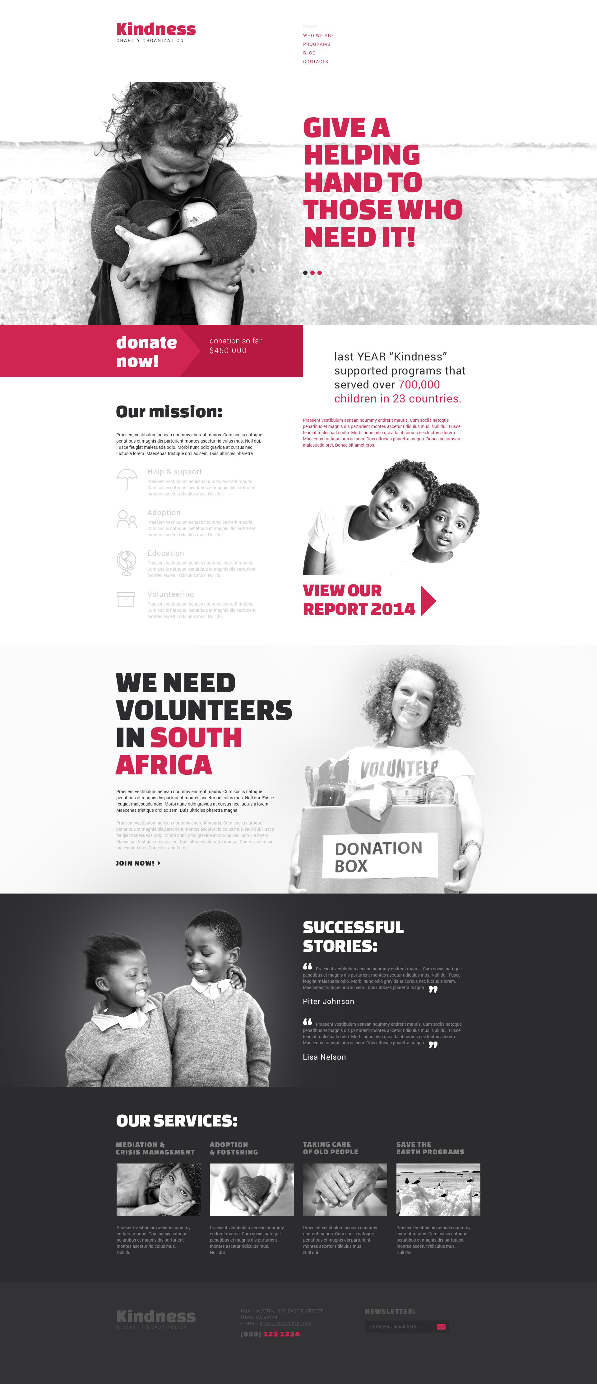 "Template Drupal Responsive #53818 ""Charity"""