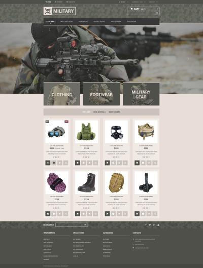 Military Responsive Tema PrestaShop