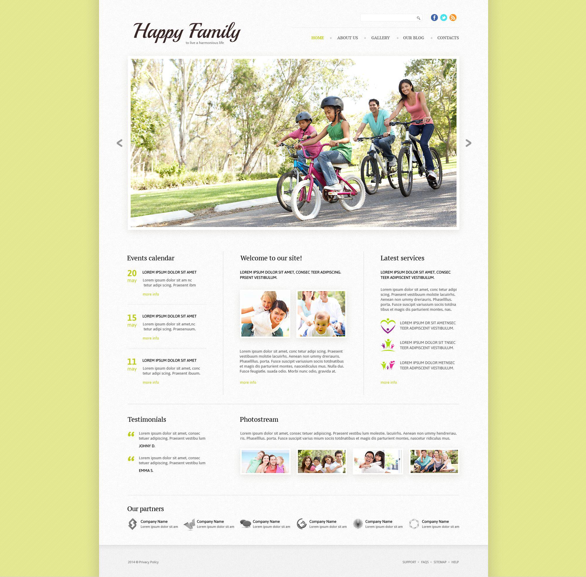 Template Siti Web Responsive #53863 per Un Sito di Famiglia