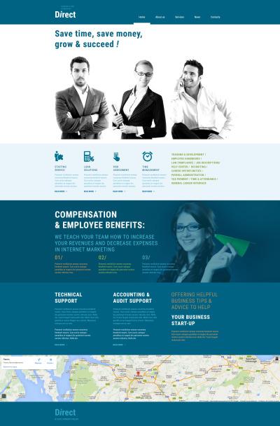 Flexível templates Moto CMS 3 №53832 para Sites de Consultoria