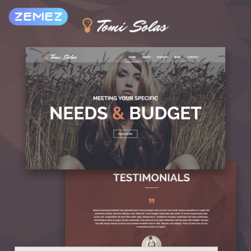 Tomi Solas - WordPress Template based on Bootstrap