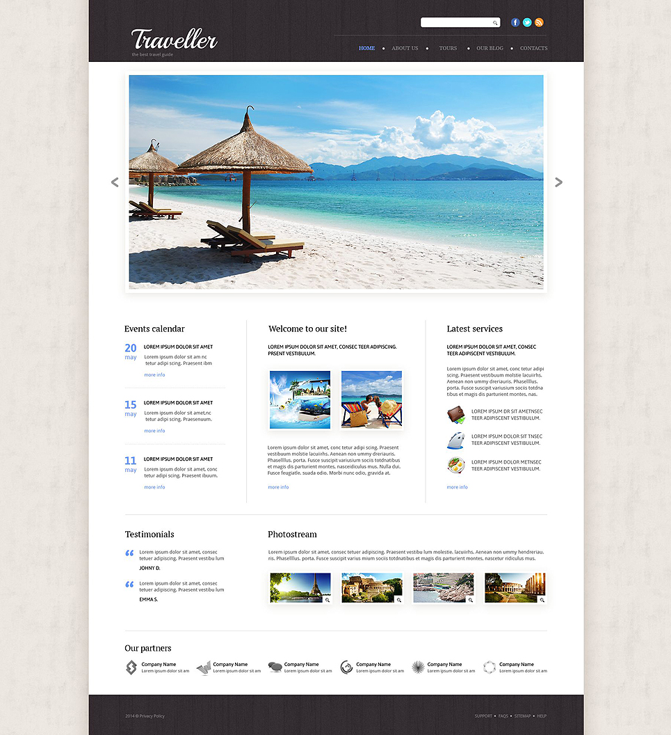 Travel Agency Responsive Website Template 53865 – Travel Policy Template