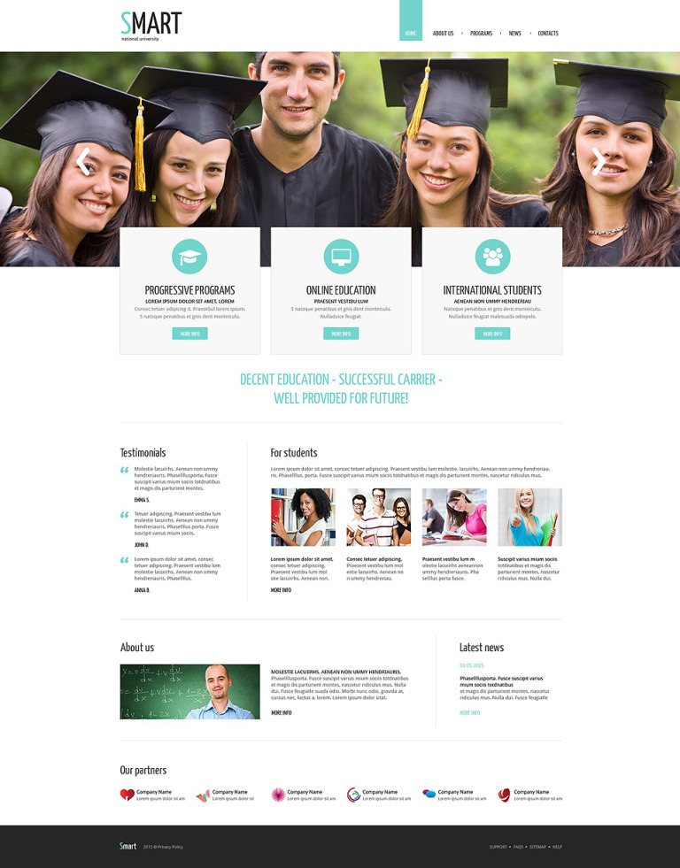 University Responsive Drupal Template New Screenshots BIG