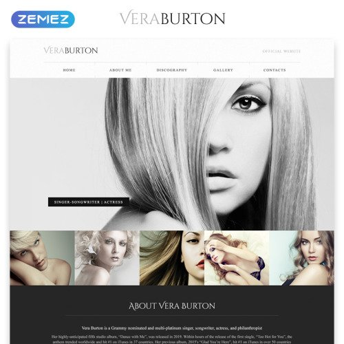 Vera Burton - Responsive Website Template