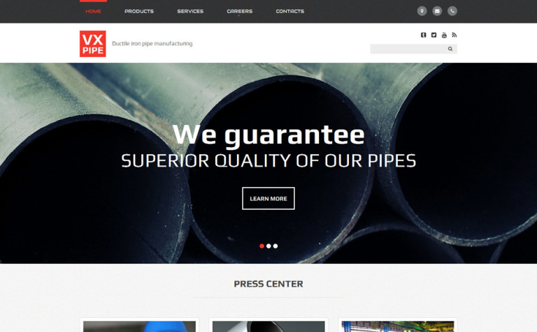 VX Pipe Website Template