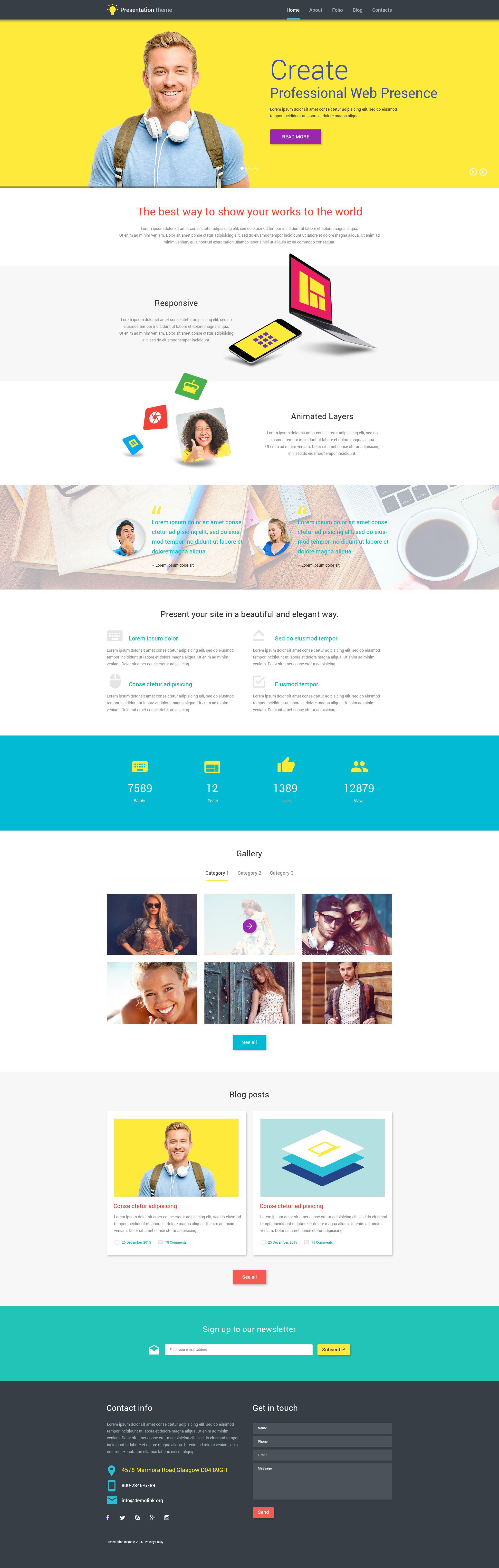 Web Presentation №53857 - скриншот