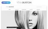 "Website Vorlage namens ""Vera Burton - Personal Pages Responsive HTML Elegant"""