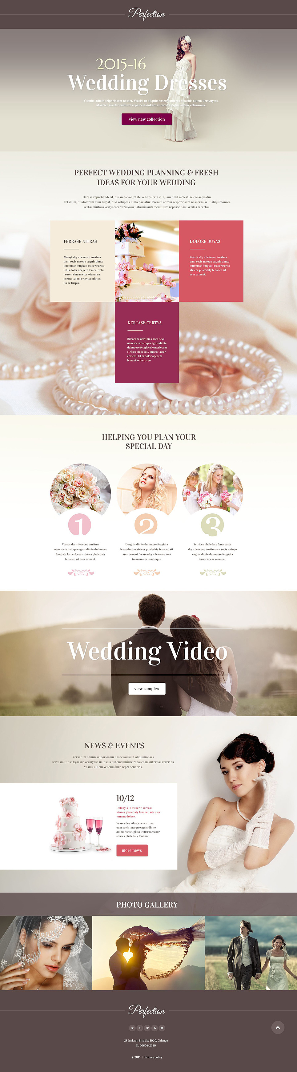Wedding Venues Responsive Landing Page Template New Screenshots BIG