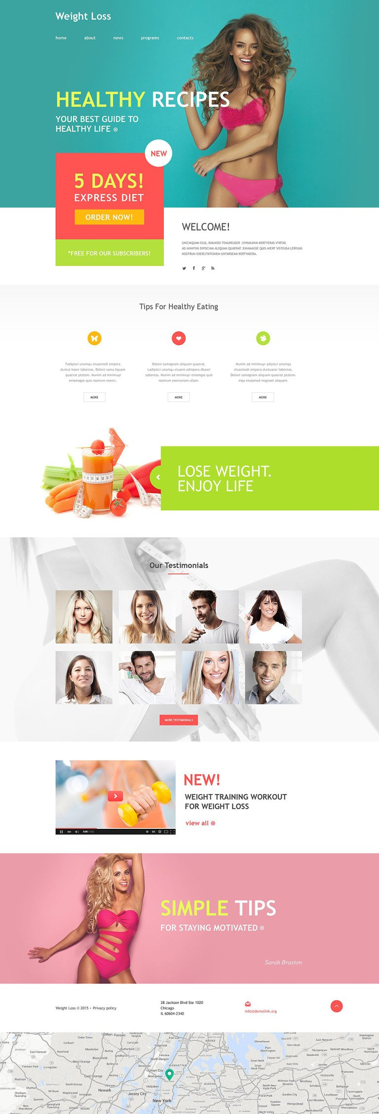Weight Loss Muse Template New Screenshots BIG