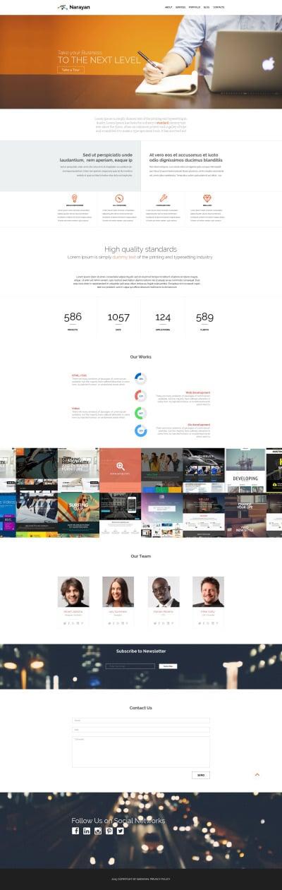 Адаптивный WordPress шаблон №53881 на тему бизнес и услуги