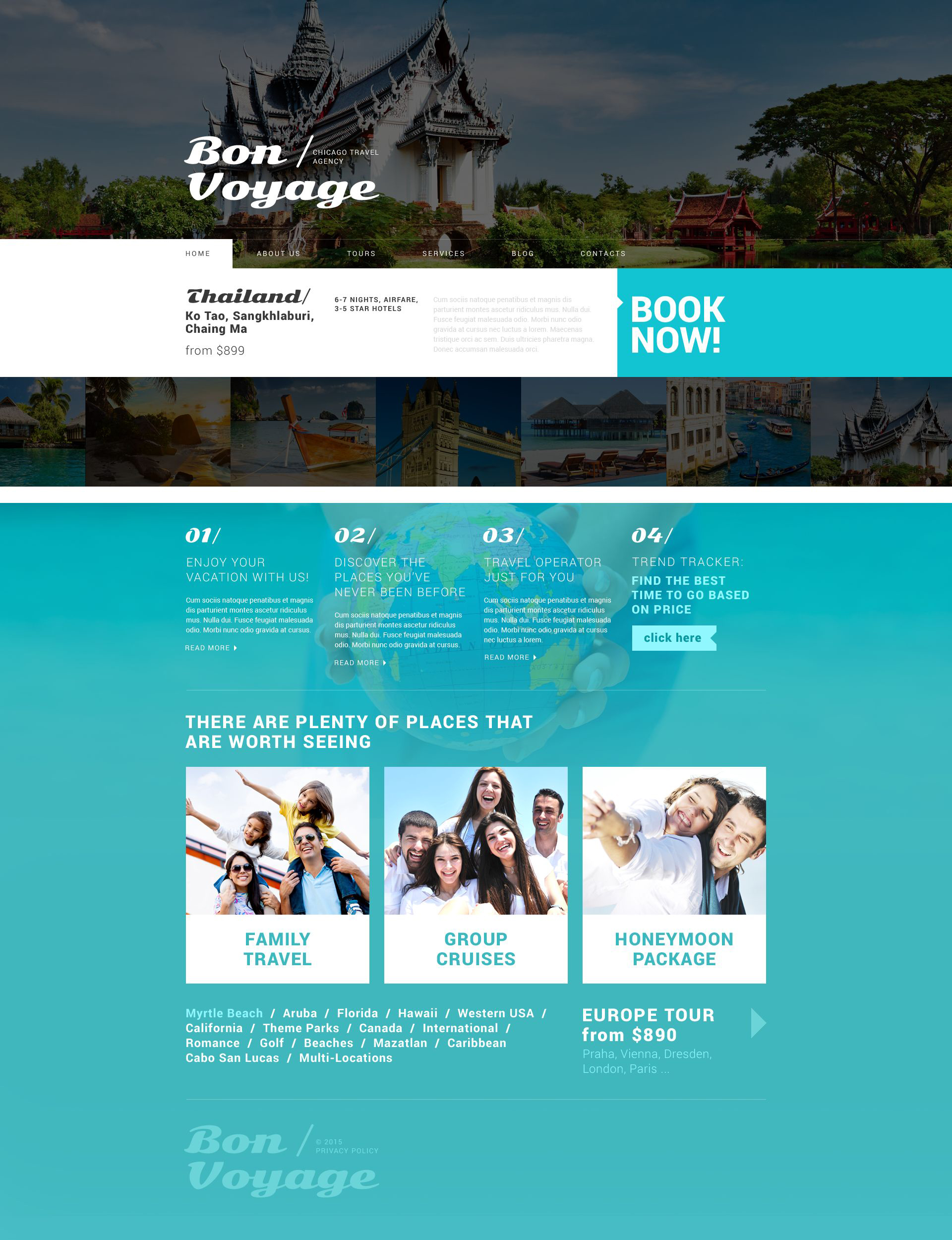 "WordPress Theme namens ""Tour Operator Services"" #53879"