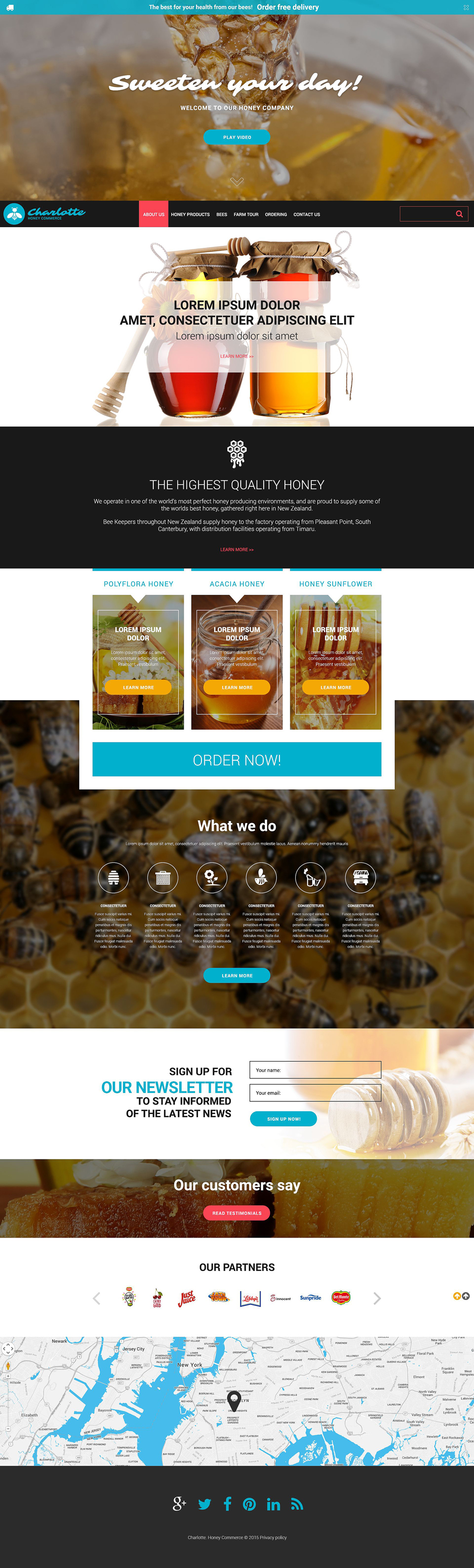Honey Store template illustration image