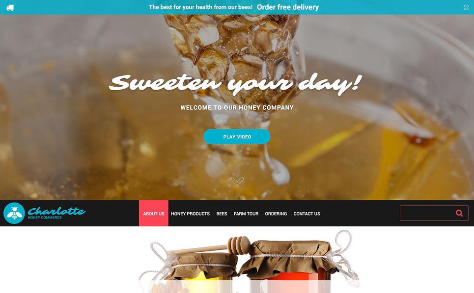 Responsive Website Vorlage für Honigshop  New Screenshots BIG