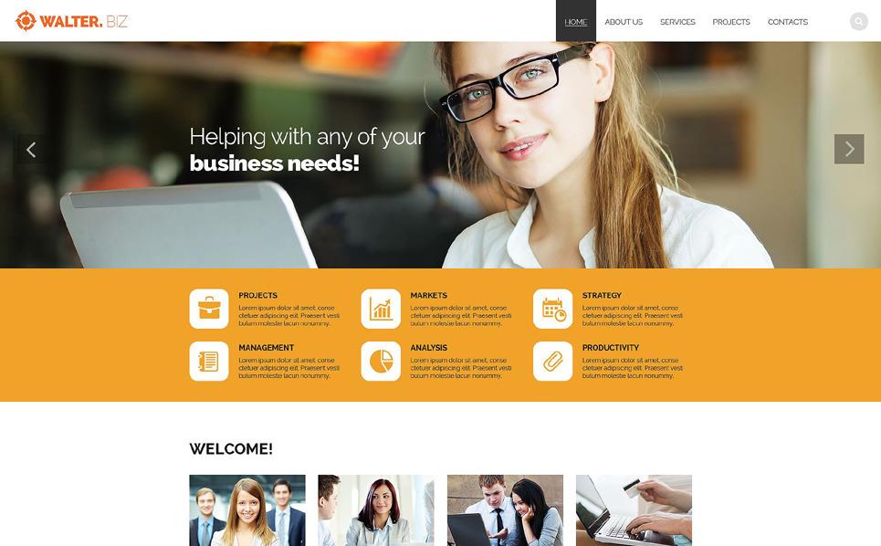 Tema Siti Web Responsive #53907 per Un Sito di Business e Servizi New Screenshots BIG