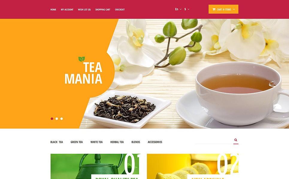 Responsive OpenCart Vorlage für Teeladen  New Screenshots BIG