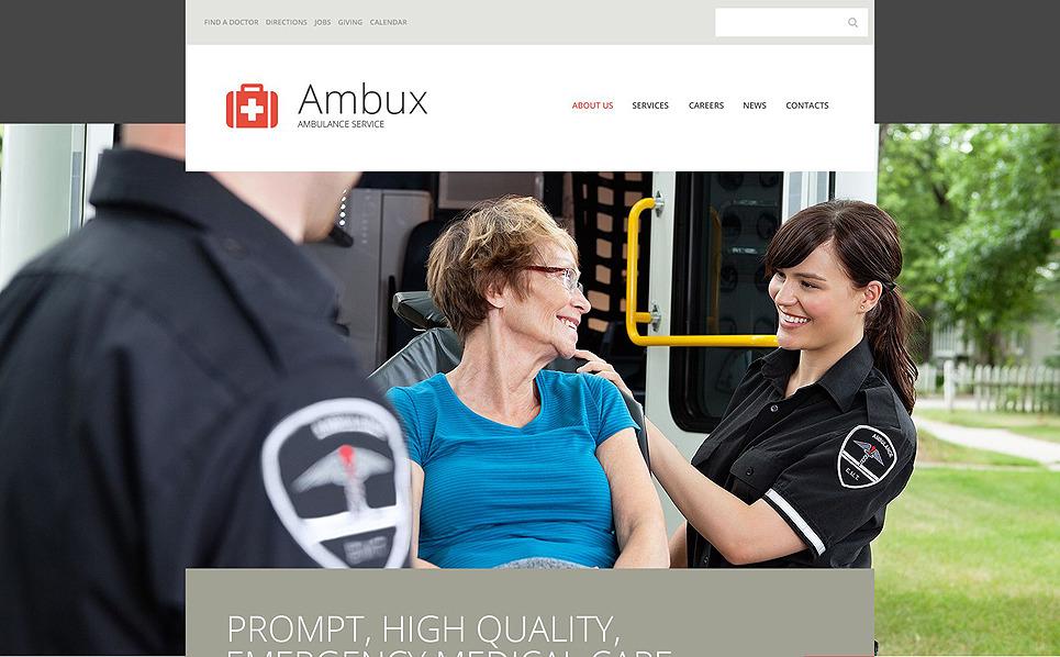 Responzivní Šablona webových stránek na téma Záchranní služba New Screenshots BIG