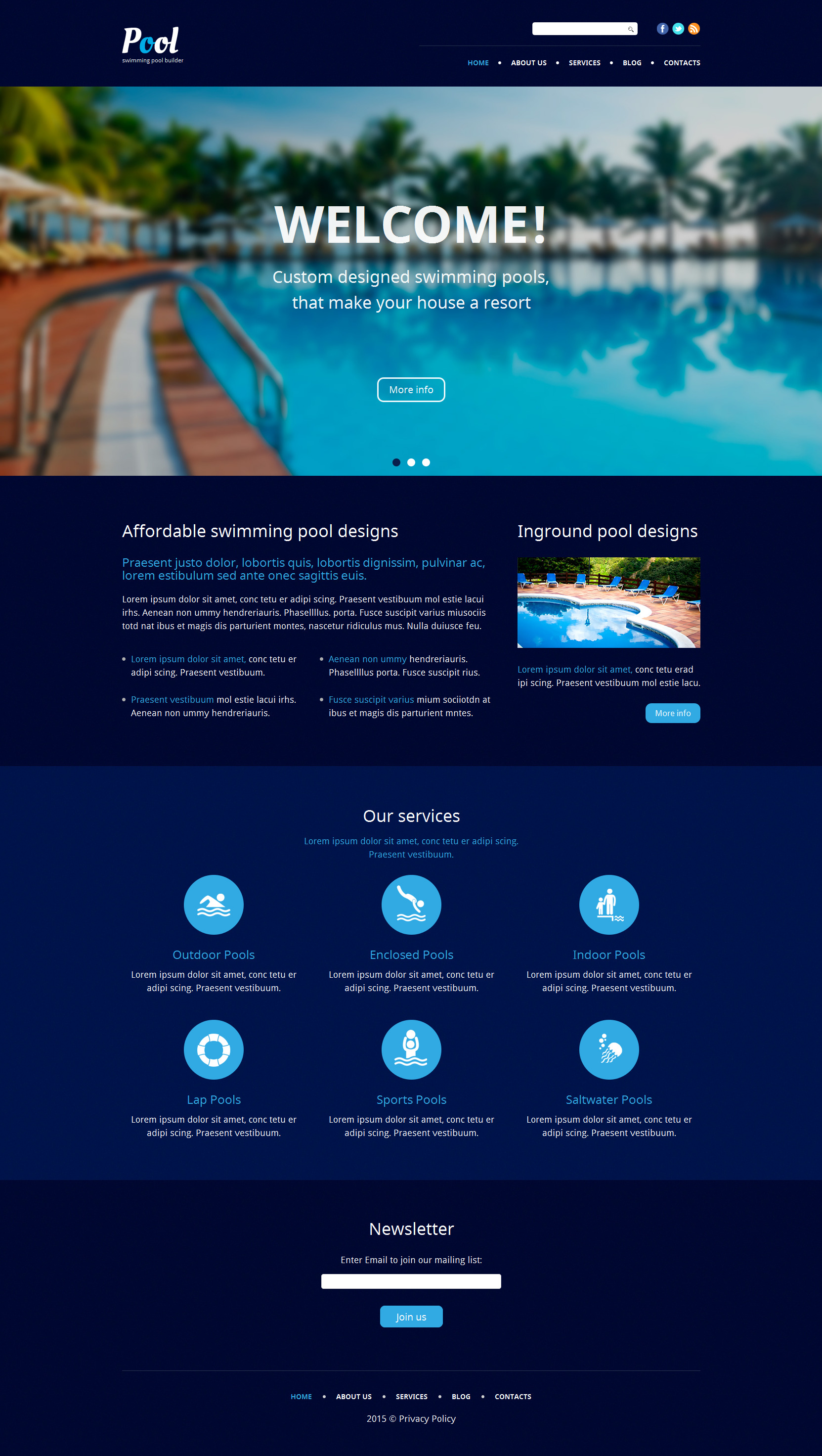 The Pool Company WordPress Design 53939, one of the best WordPress themes of its kind (business, most popular), also known as pool company WordPress template, maintenance WordPress template, services WordPress template, estimate WordPress template, cleaner WordPress template, dirty WordPress template, testimonials WordPress template, professional WordPress template, workteam WordPress template, tips WordPress template, client WordPress template, price WordPress template, tidying up WordPress template, sponge WordPress template, decoration WordPress template, preventative WordPress template, plumbing WordPress template, repair WordPress template, resurfacing WordPress template, painting WordPress template, fiberglass WordPress template, plaster WordPress template, deck WordPress template, drainage WordPress template, renovation and related with pool company, maintenance, services, estimate, cleaner, dirty, testimonials, professional, workteam, tips, client, price, tidying up, sponge, decoration, preventative, plumbing, repair, resurfacing, painting, fiberglass, plaster, deck, drainage, renovation, etc.