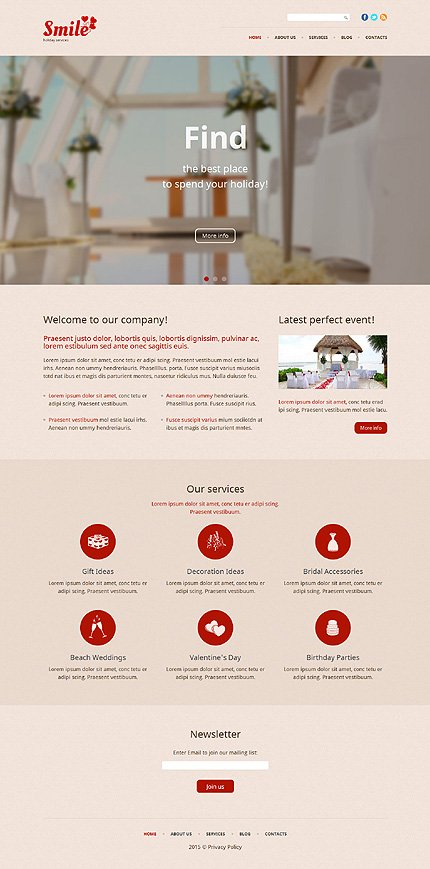 WordPress Theme/Template 53940 Main Page Screenshot