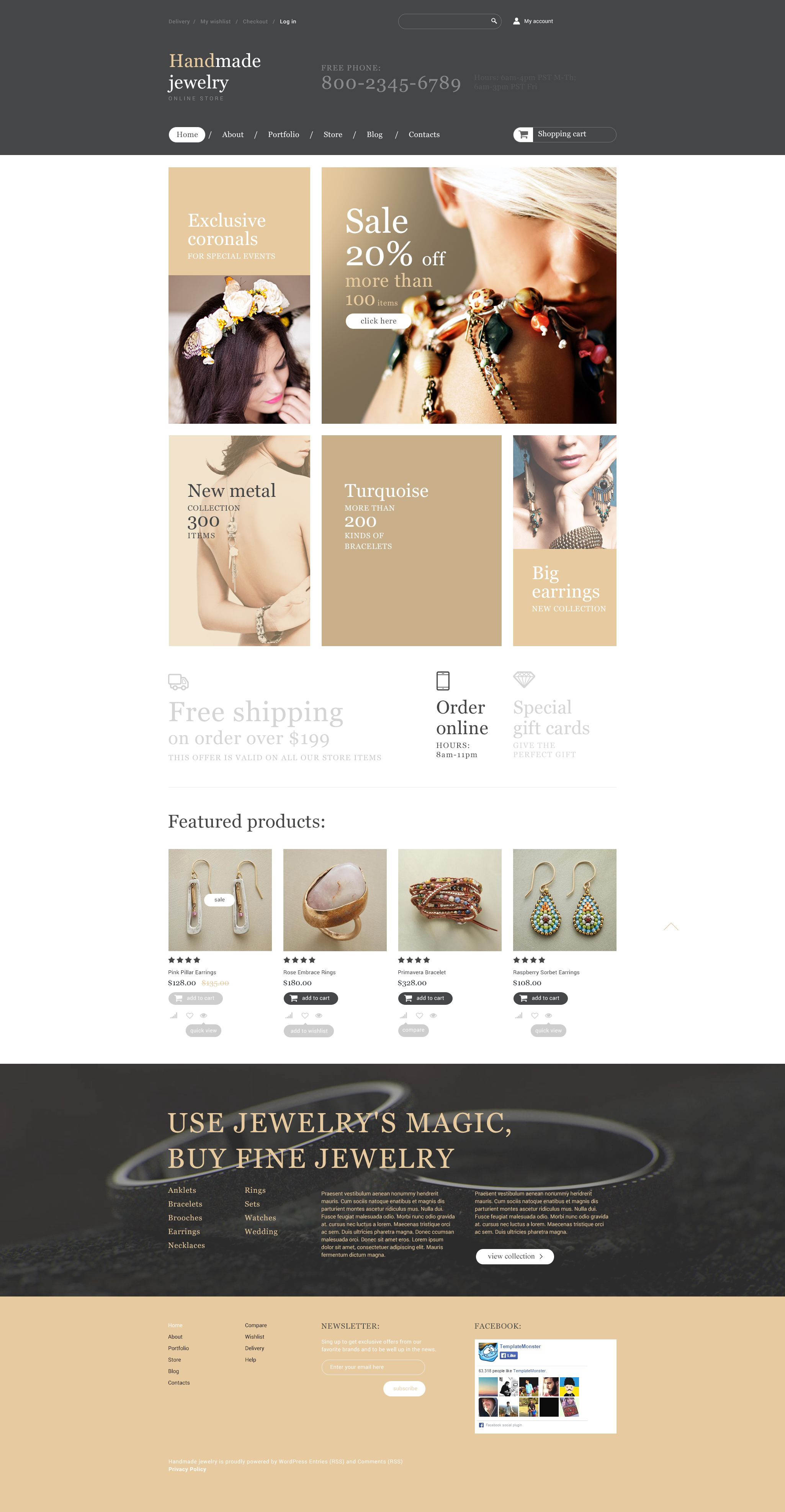 The Handmade Jewelry WooCommerce Design 53954, one of the best WooCommerce themes of its kind (wedding, most popular), also known as handmade jewelry WooCommerce template, hand WooCommerce template, made online store WooCommerce template, jewels WooCommerce template, gold WooCommerce template, silver WooCommerce template, golden ring WooCommerce template, rings WooCommerce template, watch WooCommerce template, watches store WooCommerce template, souvenir WooCommerce template, present and related with handmade jewelry, hand, made online store, jewels, gold, silver, golden ring, rings, watch, watches store, souvenir, present, etc.