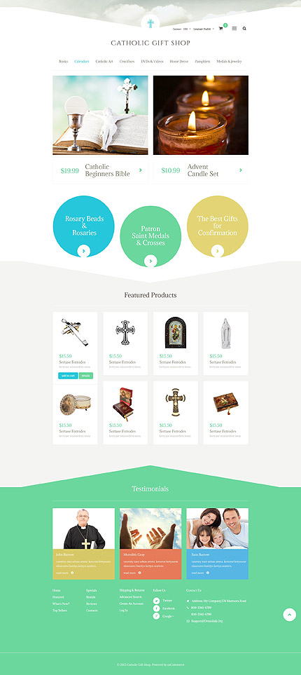 osCommerce Template 53958 Main Page Screenshot