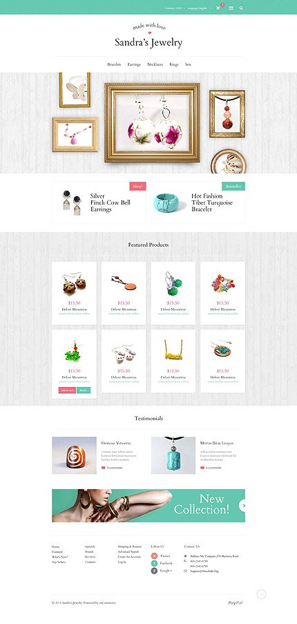osCommerce Template 53960 Main Page Screenshot