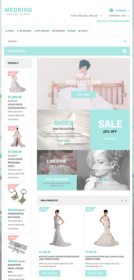 Magento Theme/Template 53962 Main Page Screenshot