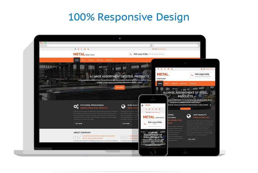 Modèles HTML5 Industriel #53971