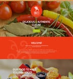 Cafe & Restaurant Landing Page  Template 53972