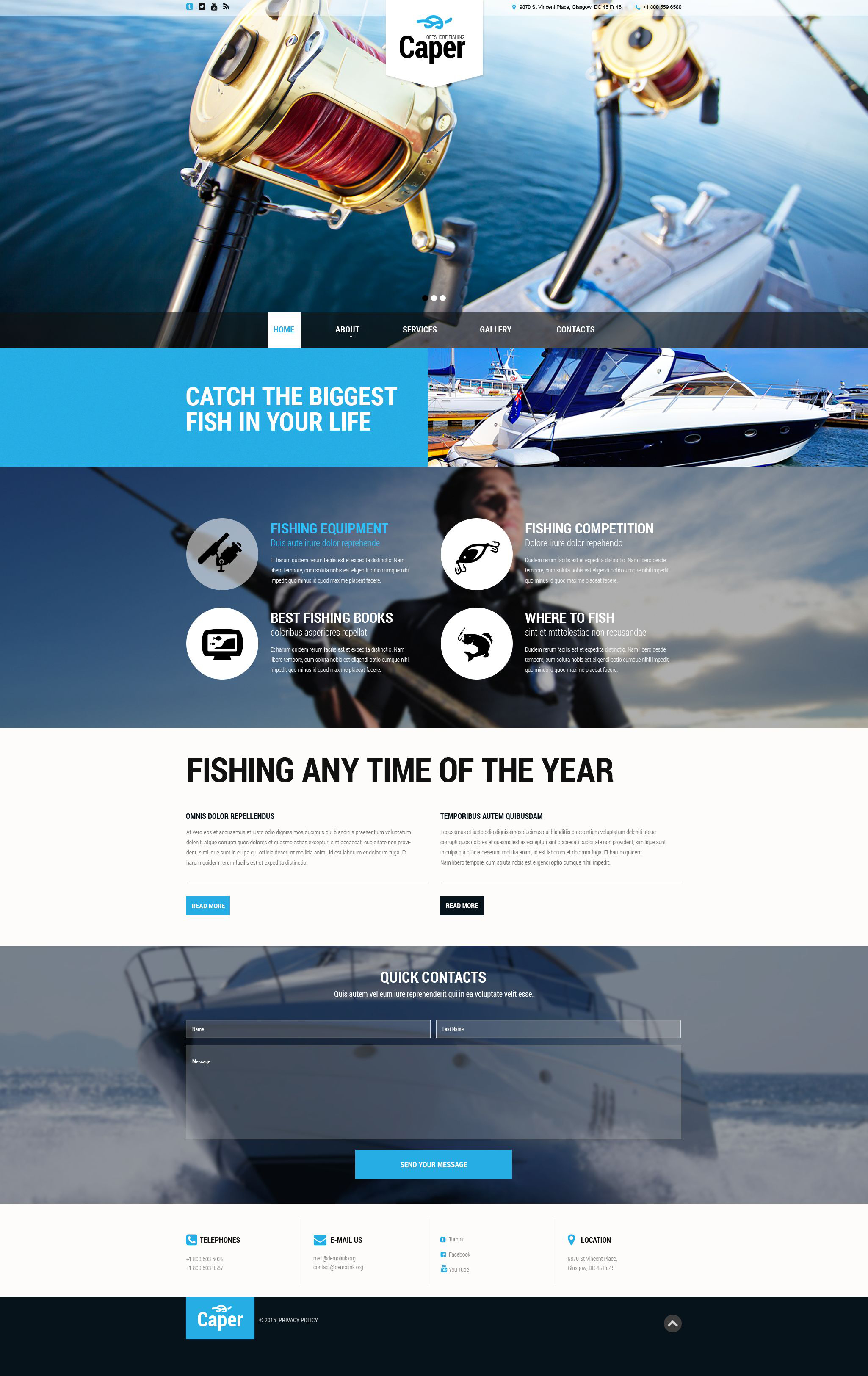 The Caper Offshore Responsive Javascript Animated Design 53975, one of the best website templates of its kind (sport, most popular), also known as caper offshore website template, fishing club website template, sport website template, fish website template, line website template, site website template, fisherman website template, boat website template, rod website template, catch website template, advice website template, fun website template, river website template, lake and related with caper offshore, fishing club, sport, fish, line, site, fisherman, boat, rod, catch, advice, fun, river, lake, etc.