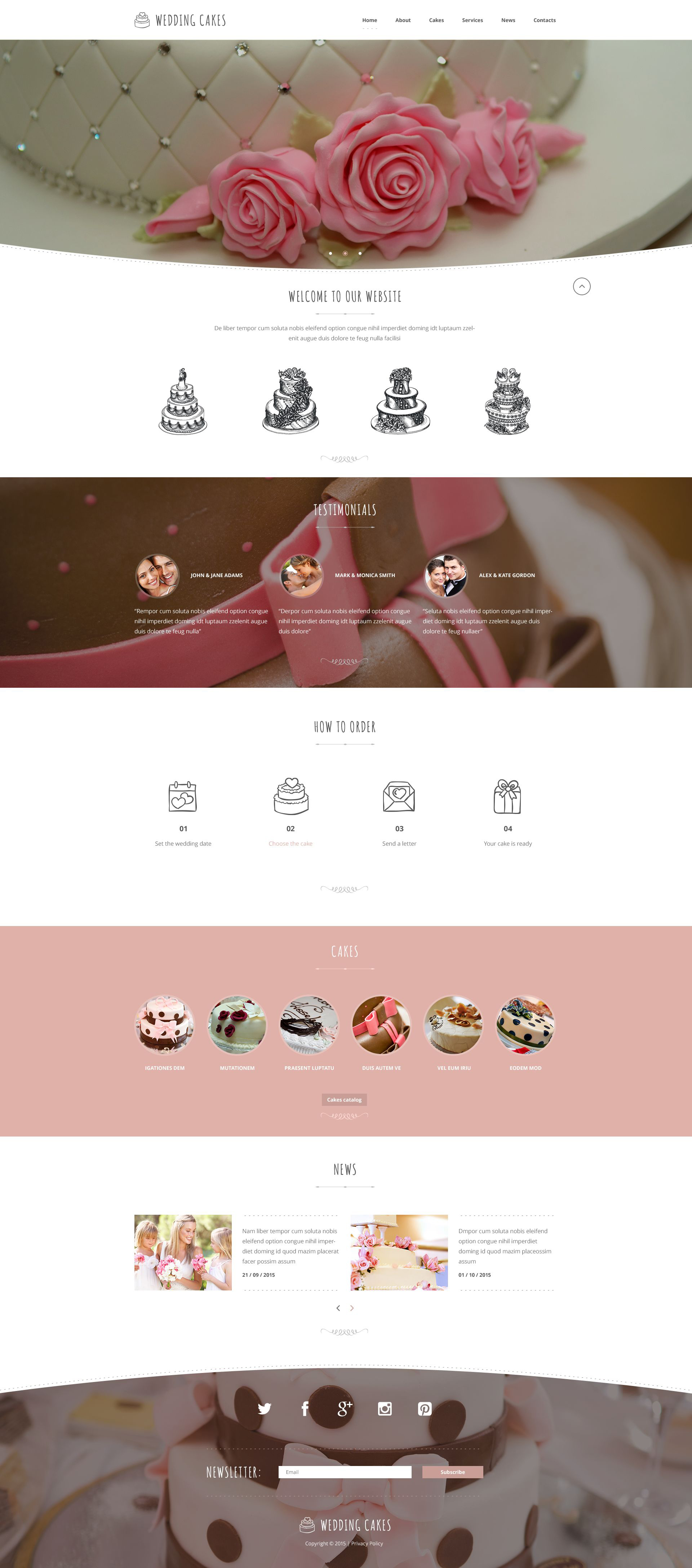 The Wedding Charlotte Responsive Javascript Animated Design 53978, one of the best website templates of its kind (wedding, most popular), also known as wedding charlotte website template, cakes website template, delights website template, cake website template, sweet tasty website template, pleasure website template, recipe website template, confectionery website template, dessert website template, celebration store and related with wedding charlotte, cakes, delights, cake, sweet tasty, pleasure, recipe, confectionery, dessert, celebration store, etc.