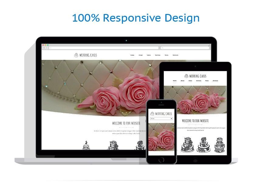 Wedding Cake Website Template
