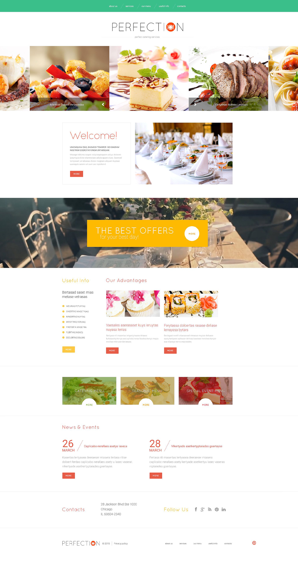 Food Delivery Services template illustration image