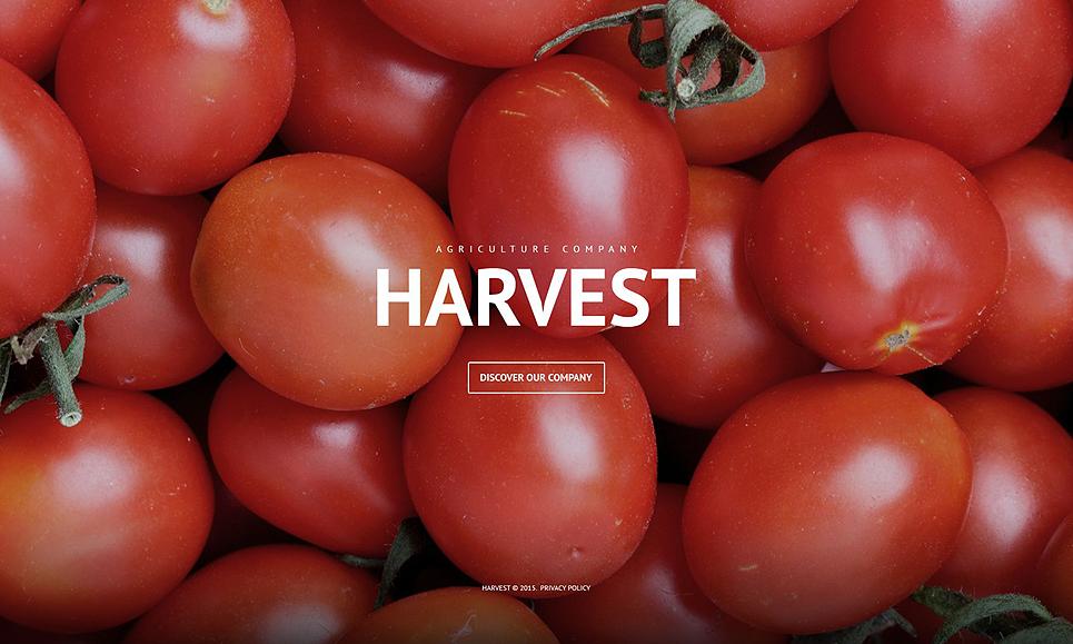 Адаптивный шаблон сайта на тему сельское хозяйство #53933