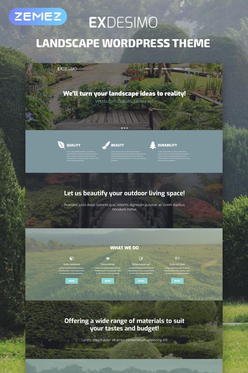 Адаптивный шаблон сайта на тему дизайн экстерьера #53937